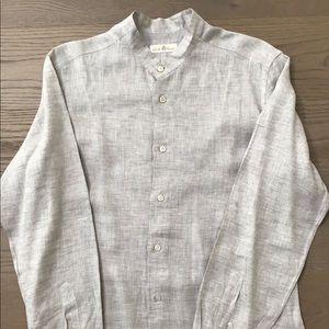 Men's light grey linen shirt
